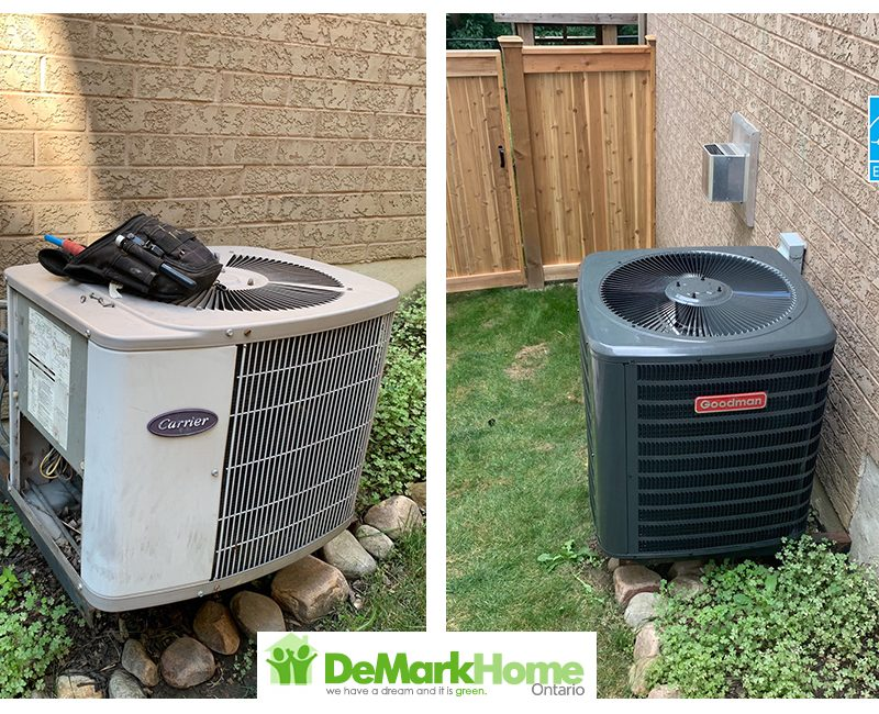 16 SEER Air Conditioner Goodman before and after