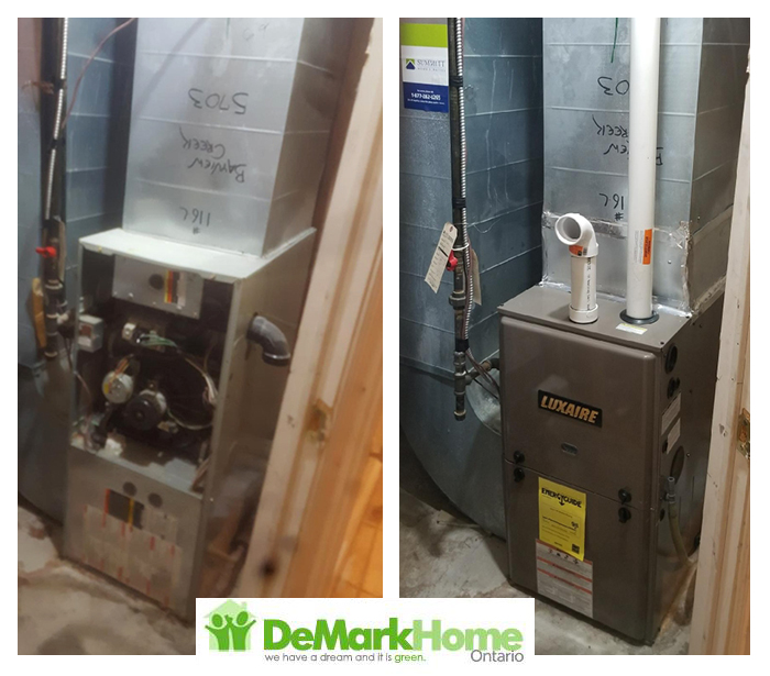 96 furnace installed before and after