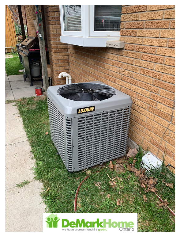 HVAC combo rental installed