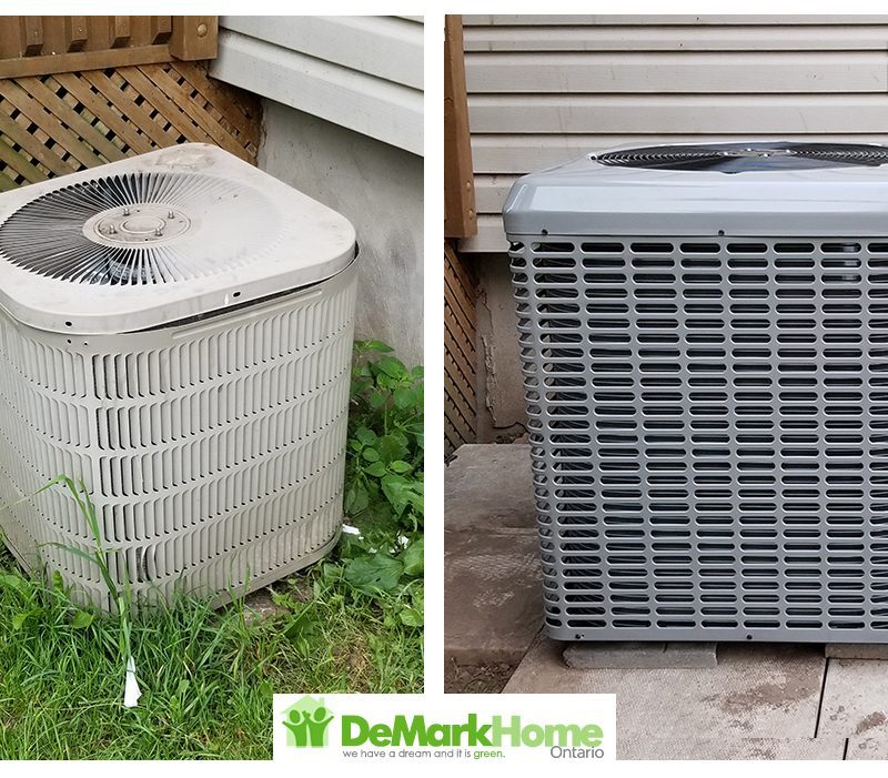 Old AC before and after