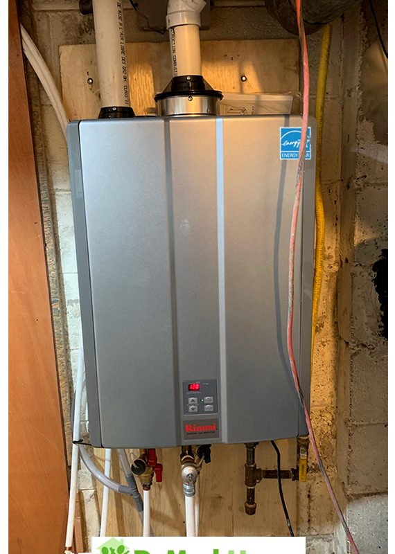 Rinnai tankless RU installed