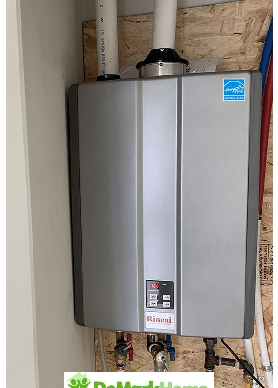 Rinnai tankless installed rent to own