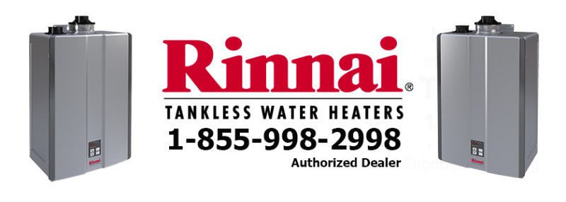 Rinnai tankless water heaters rental