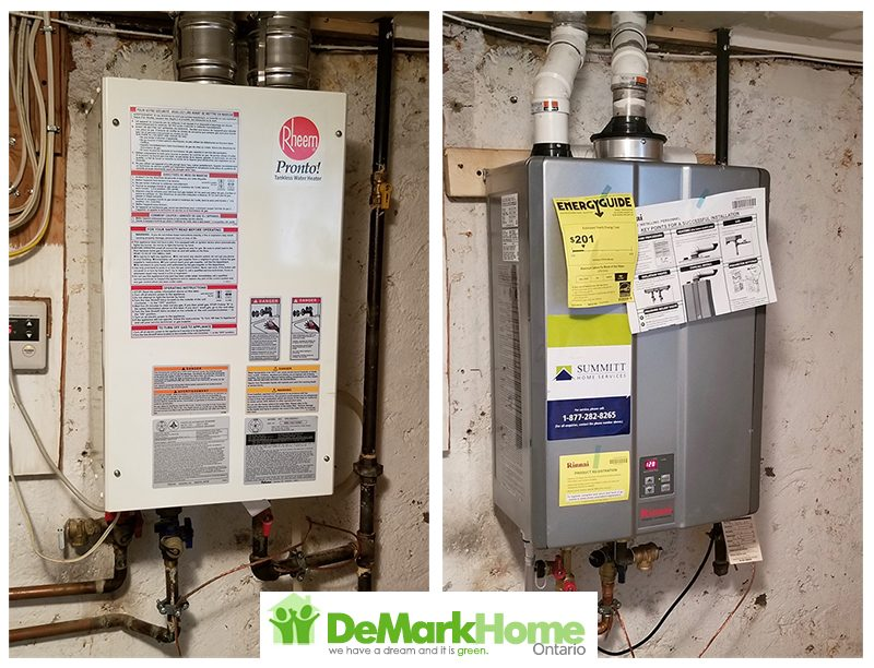 Tankless to tankless DeMark Home Ontario