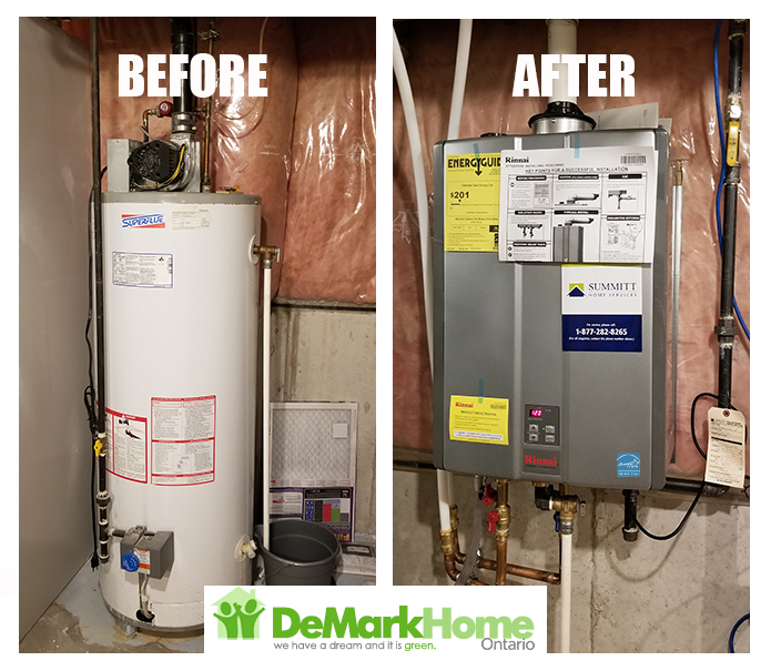 Rinnai tankless installed before after tankless