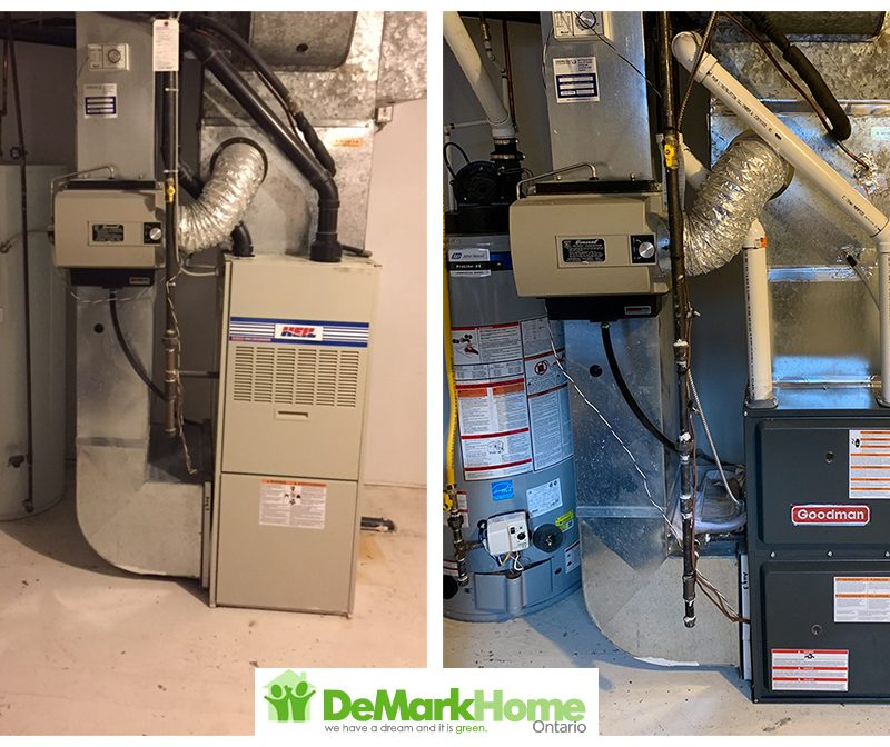 water heater furnace air conditioner before and after